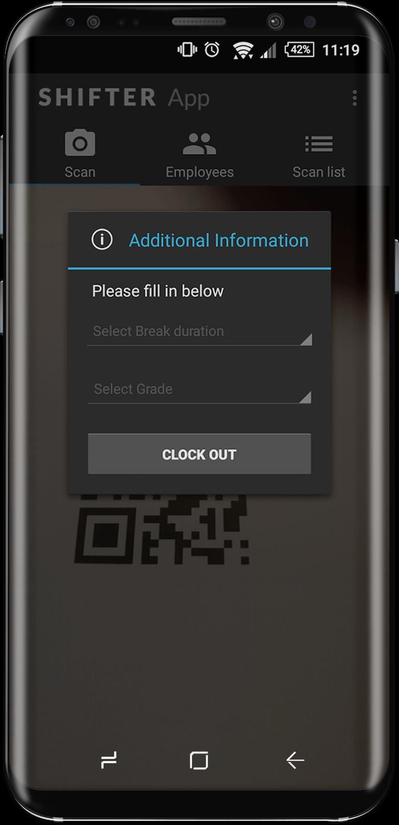Samsung S8 Shifter app